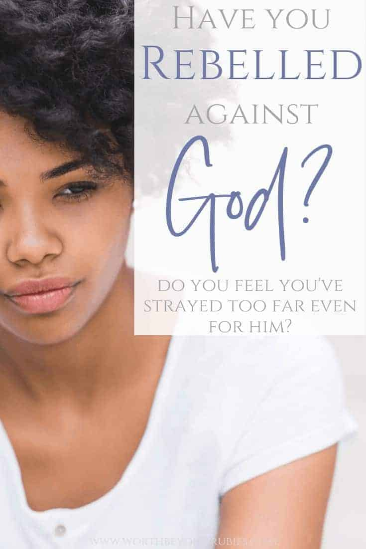 Rebelled Against God? - An African American woman sitting in a white t-shirt with her hand up to her head looking sad