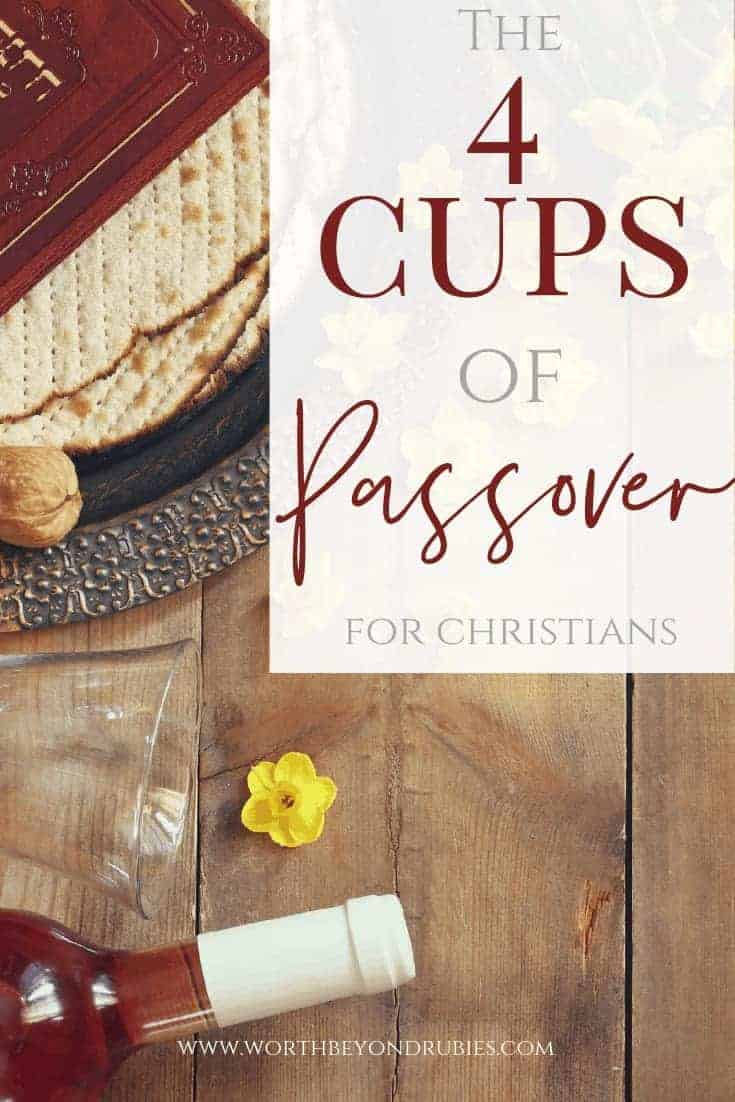 The Four cups of Passover for Christians - An image of a Passover seder table with wine