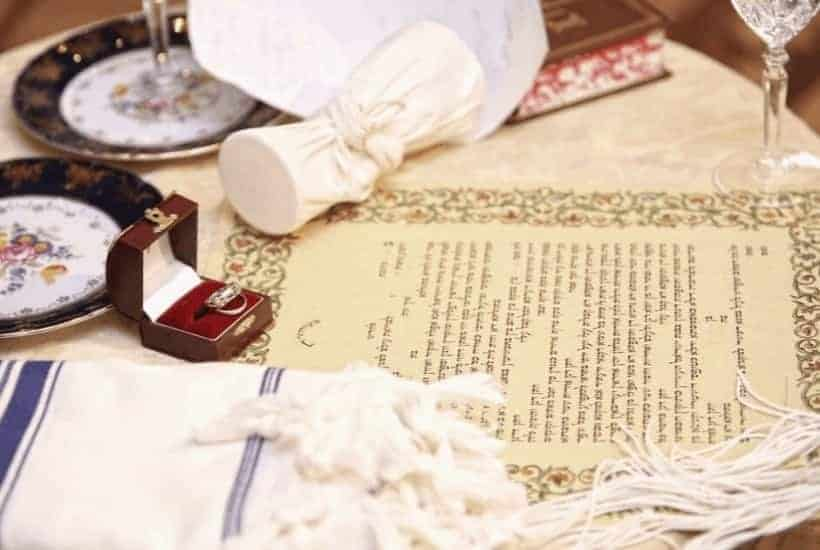 Jesus Our Bridegroom and the Ancient Jewish Wedding - Items from a Jewish wedding like a ketubah, rings, glass