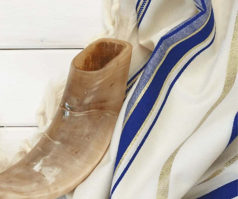 What Happened on the Day of Atonement - What the Day of Atonement Means for the Christian - a shofar and tallit