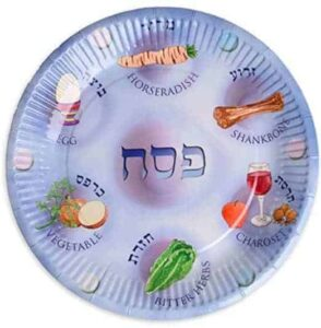 Paper plates for Passover