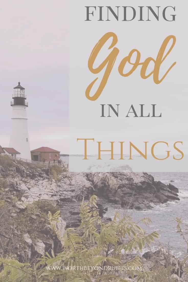 Finding God in All Things - An image of a lighthouse in New England