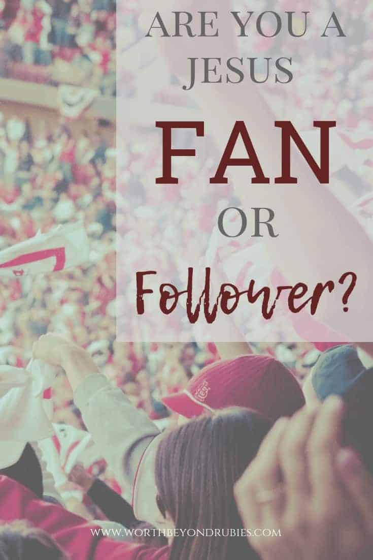 Jesus Fan or Follower? - A crowd of fans at a sporting event