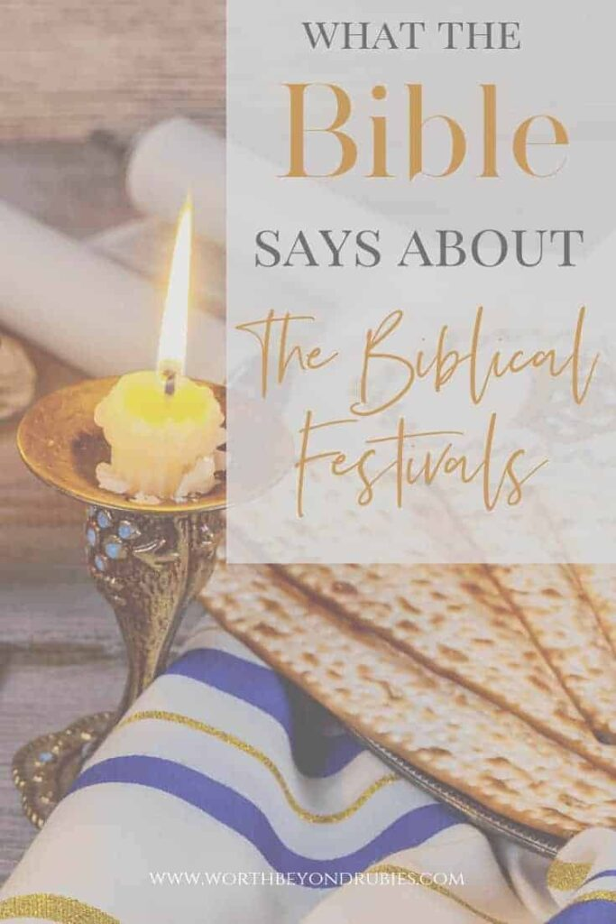 Biblical Festivals - Passover table with a candle burning