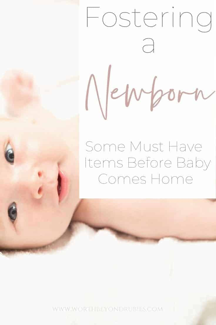 Fostering a Newborn - Must Have Items for Baby - an image of a smiling baby on a white background