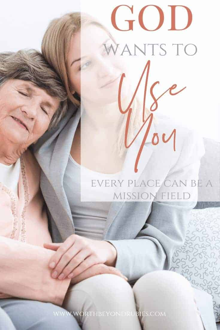 God Wants to Use You- Encouraging Others - a young woman cuddling with an older woman