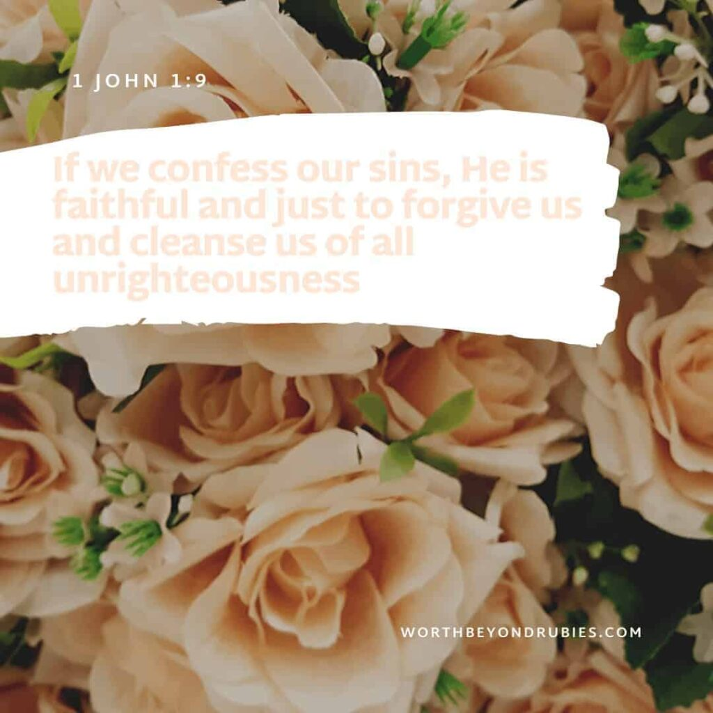 Pray with Confidence - Hebrews 4:16 against a peach colored floral backdrop