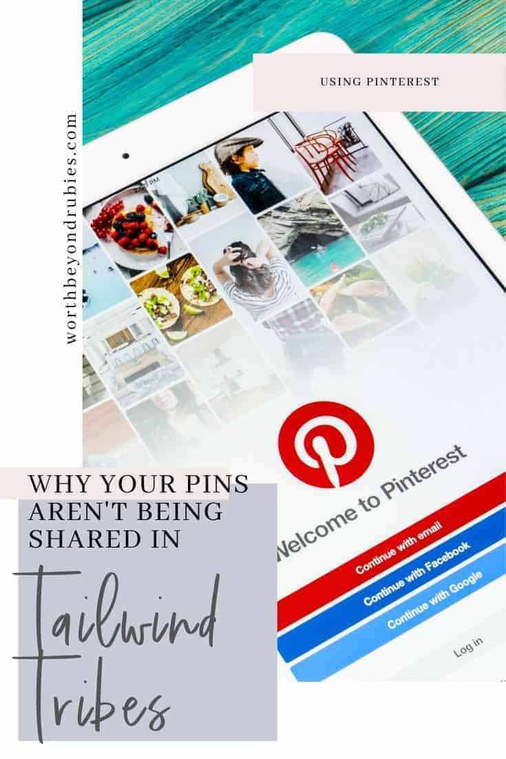 Tailwind Tribes-Why Your Pins Aren't Being Shared - an image of an ipad open to Pinterest