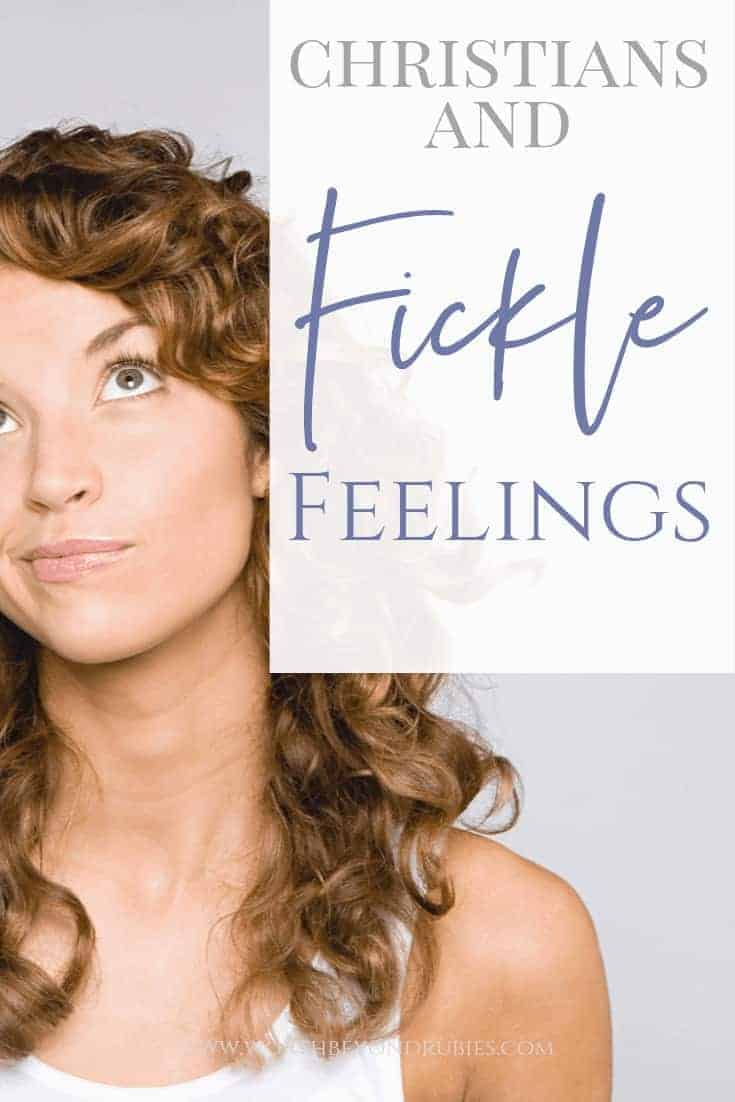 Jesus Paid the Price - Our Fickle Feelings - A woman looking skeptical