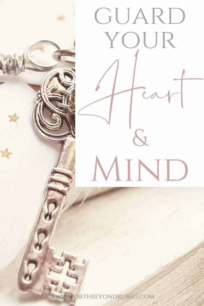 An image of a beautiful key and a text overlay that says Guard Your Heart and Mind