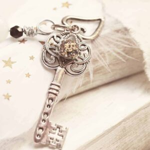 An image of a beautiful key on a book - Worth Beyond Rubies - Guard Your Heart and Your Mind