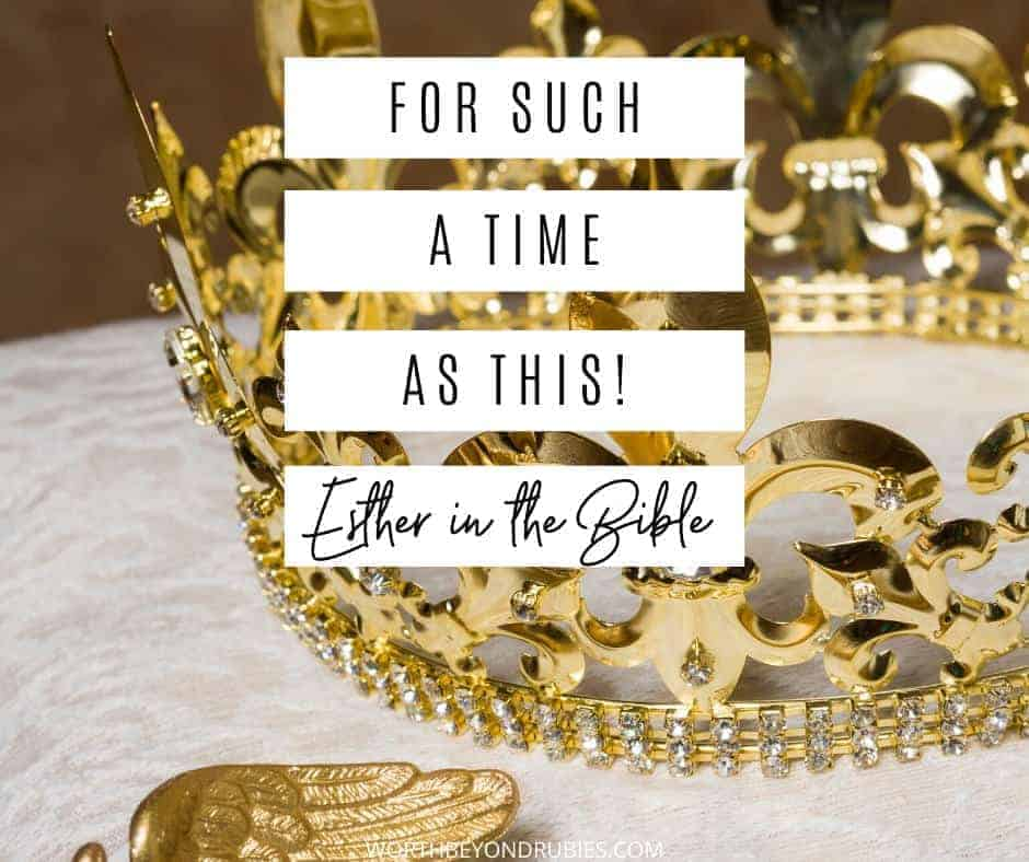 An image of a gold crown - For Such a Time as This - Esther in the Bible