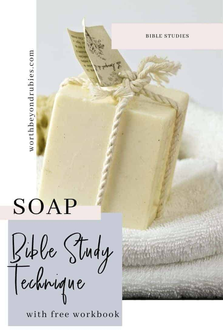 SOAP Bible Study - an image of a handmade bar of soap wrapped in twine on white facecloths