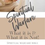 A woman looking stressed with her hands to the bridge of her nose - What is Spiritual Warfare