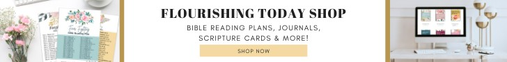 Flourishing Today Shop with Images of some of their Bible Reading and Journaling Products