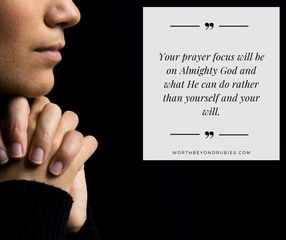 An image of a woman prayer for post on powerful prayer