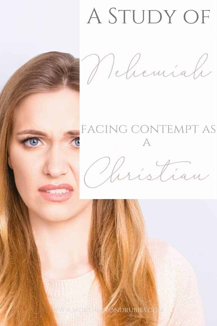 Study of Nehemiah - Facing Contempt as a Christian - A woman looking with disgust