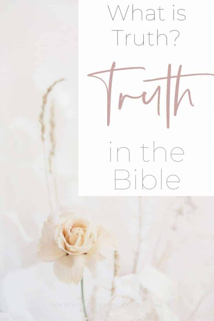 What is truth in the Bible? An image of a white flower in a white room