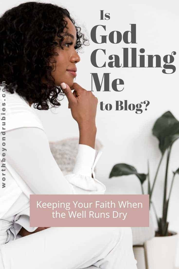 Is God Calling Me to Blog? - An image of a woman sitting looking like she is pondering something