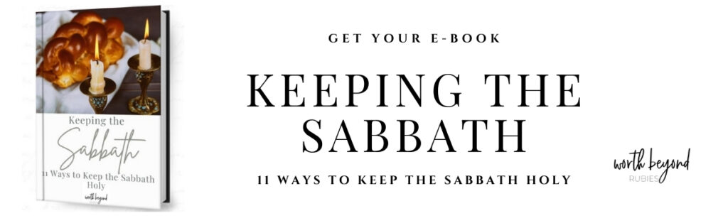Banner ad for Keeping the Sabbath Holy Ebook