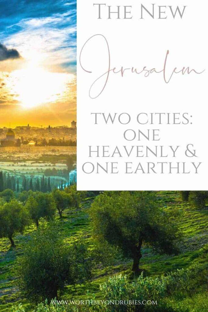 An image of Jerusalem with a beautiful sunset