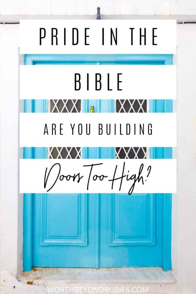 An image of a blue door - Pride in the Bible