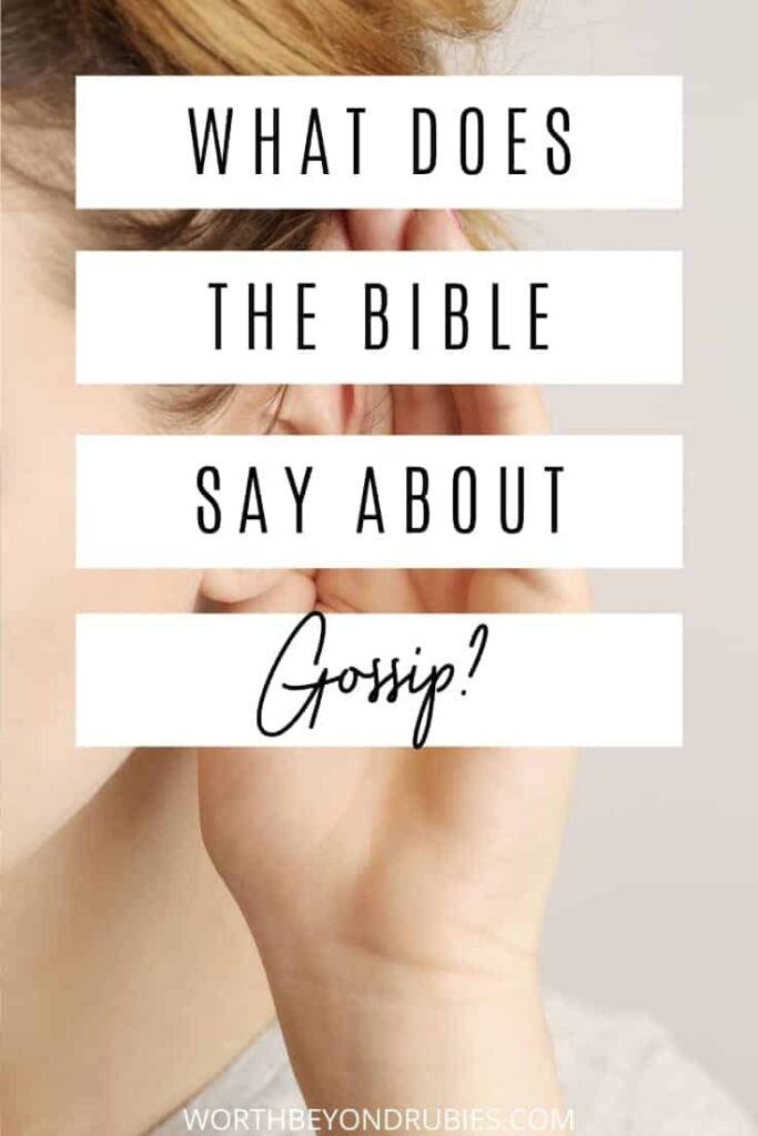 An image of an ear with a hand up to it like someone is listening - What Does the Bible Say About Gossip?