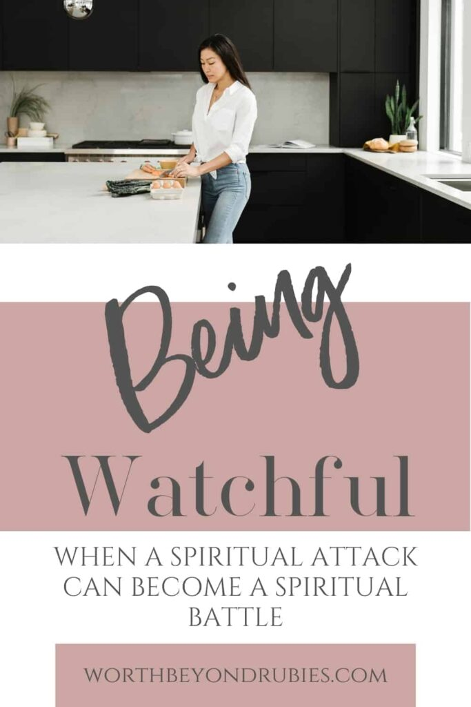 A woman standing in a kitchen sink - Spiritual Attack - Spiritual Battle