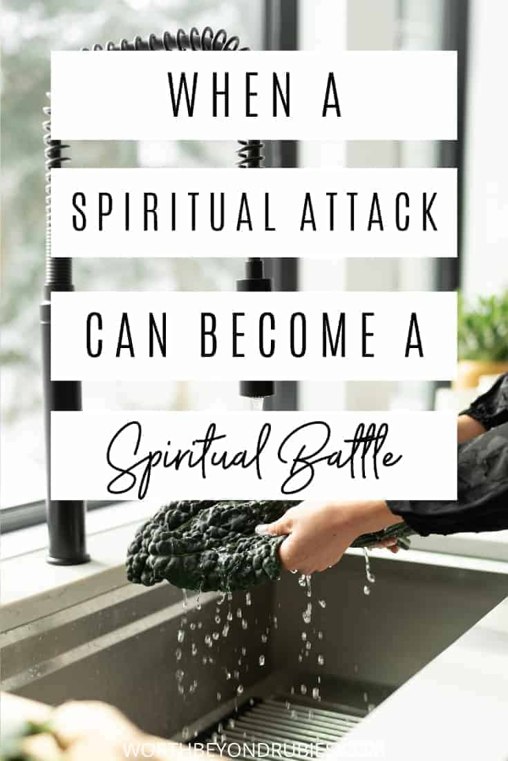 A woman washing something in a kitchen sink - Spiritual Attack - Spiritual Battle