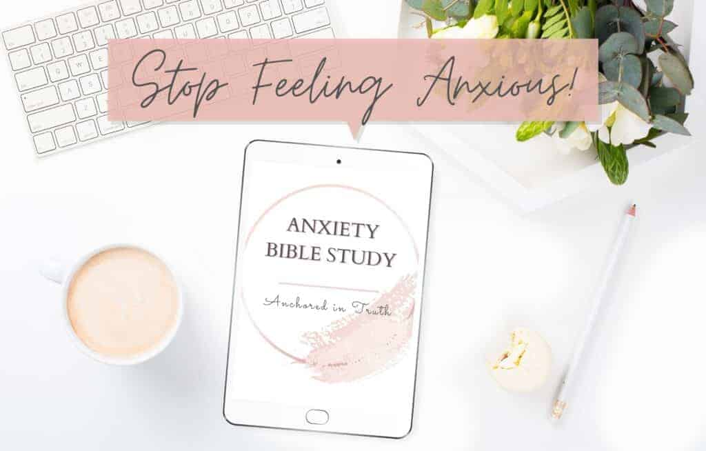Pink background with images of tablets and a workbook from - Sunshyne Gray - How to Stop Feeling Anxious (Workbook and Video)