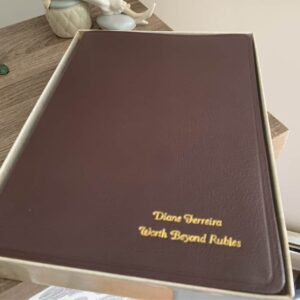 An image of the cover of my NASB Hebrew-Greek Keyword Study Bible with my name and blog's name engraved on the front