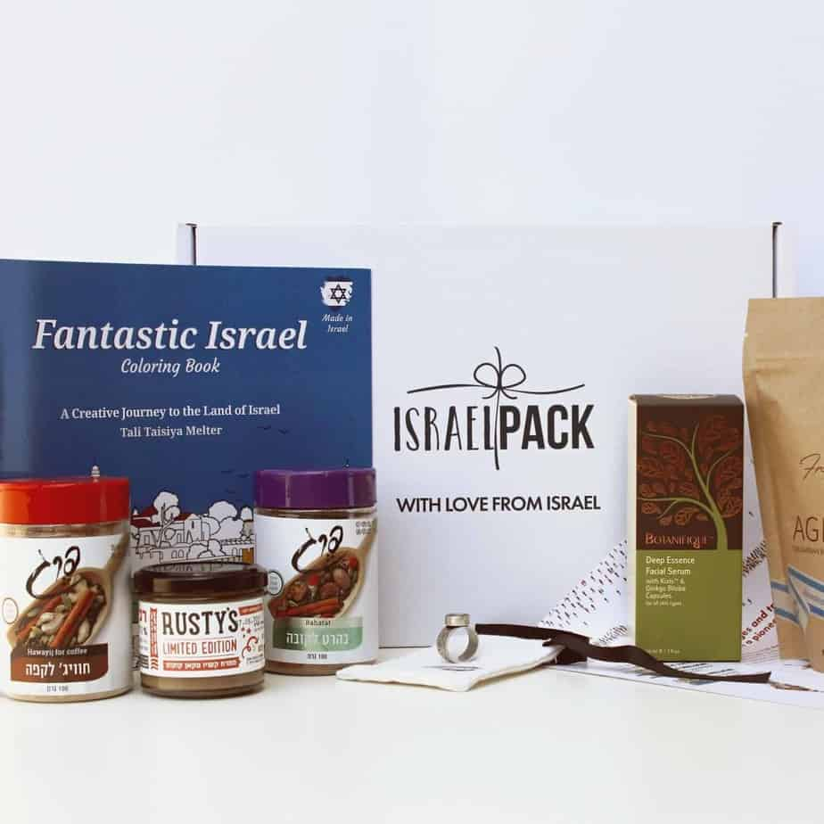 An image of the Israel Pack Subscription Box from July 2020