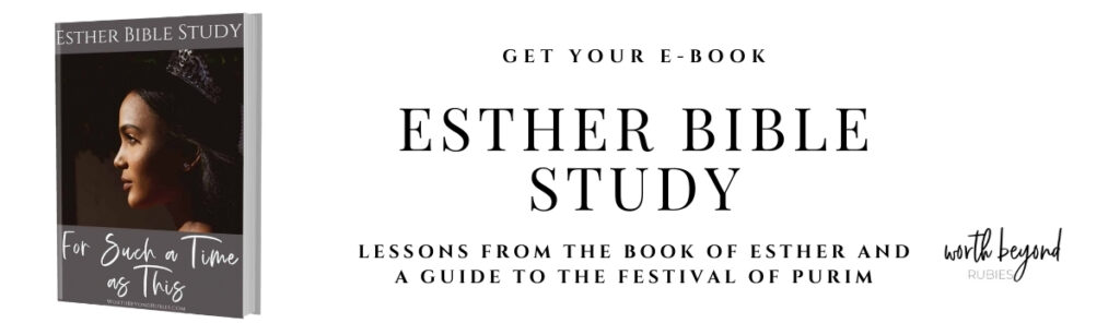 Banner for Esther Bible Study Ebook with image of ebook cover