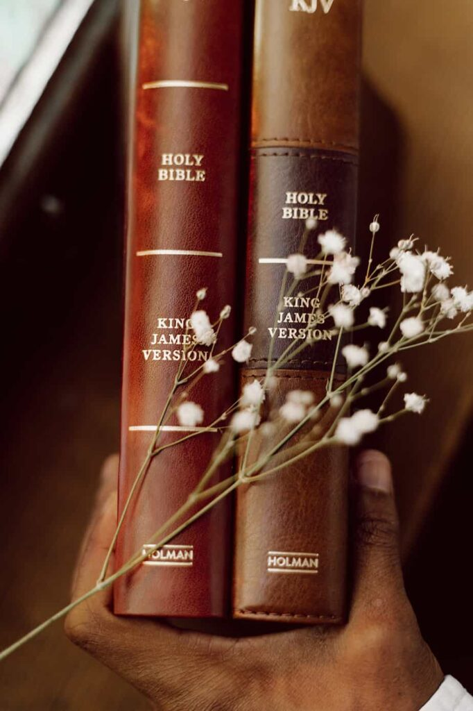 Image of Bibles for post on KJV Study Bible review