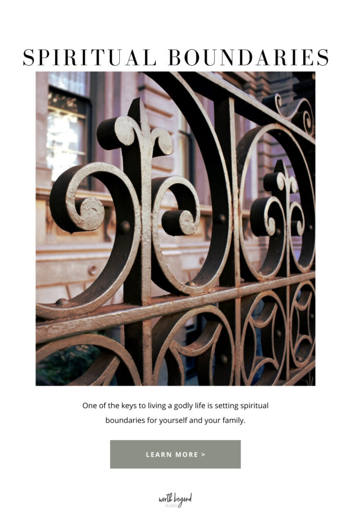 an image of a gate outside a building and text that says Setting Spiritual Boundaries