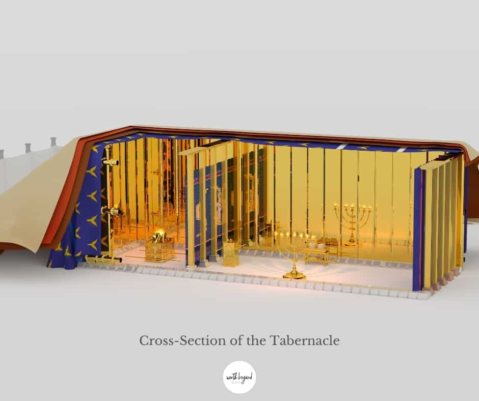 Cross Section of the Tabernacle of Moses
